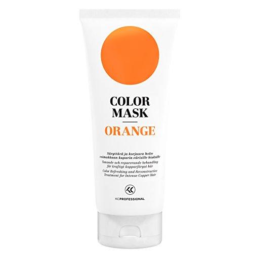 Color Mask Orange Reconstructive Treatment – Toning Conditioner for Orange and Bright Copper Color Treated Hair – Orange Color Conditioner 6.76 oz – KC Professional