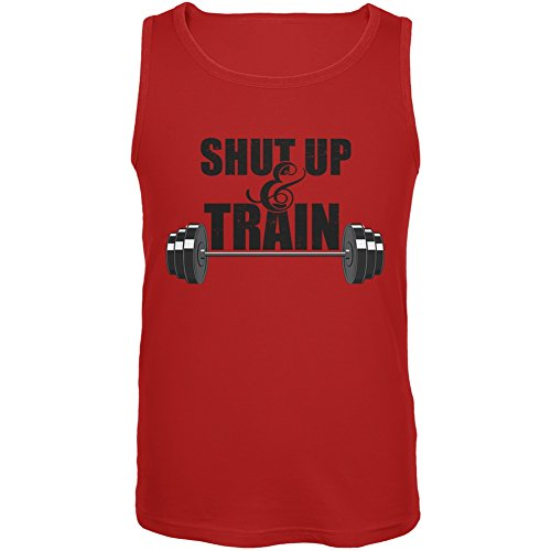UPC 889357862901, Shut Up & Train Red Adult Tank Top - Medium