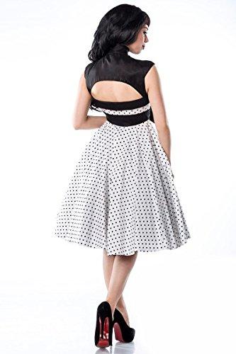 taglie in nero multicolore L Atixo S Rockabilly stile bianco colore Abito Multicolore 2XL XL M wfWf5I7qr