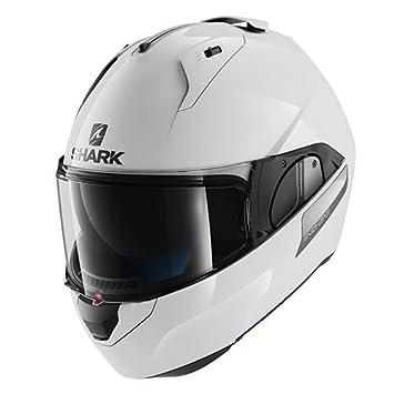 Shark Evo One Blank WHU Casco de motocicleta – Color blanco – Talla L
