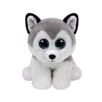 TY Beb/é Joven Peluche gris Buff Husky 15/cm