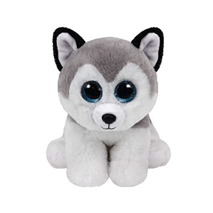 Amazon.com  Ty Beanie Baby Buff The Husky Dog  Toys   Games cbdfbb58c1e