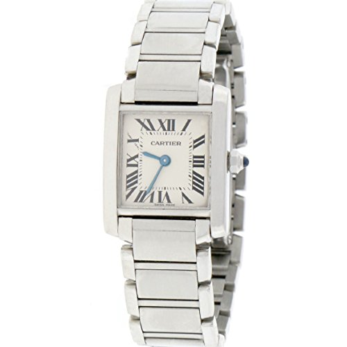 Cartier Small Tank Francaise analog-quartz womens Watch W51008Q3 (Certified Pre-owned)