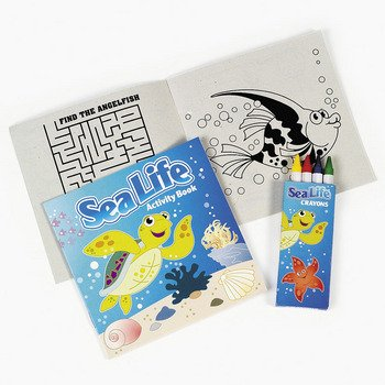 12 ~ Sea Life Tropical Fish Activity Coloring Books with Crayons ~ New (Fish Tropical Goody Bags)