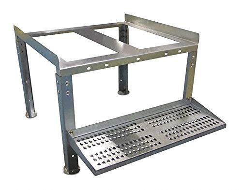 Steel Tank Stand, Silver, For Use With Liquid Storage Tanks