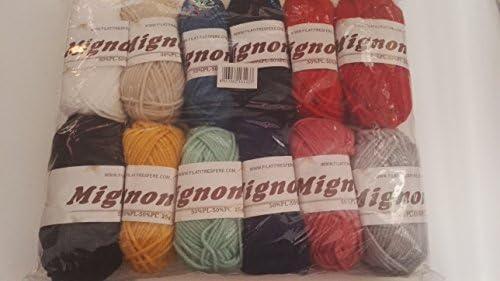 3S Pack de 12 ovillos de lana colores mezclados de 25 gr: Amazon.es: Hogar