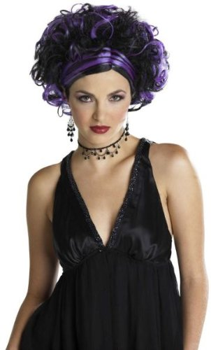 WMU Wicked Widow Wig Black-Purple ()