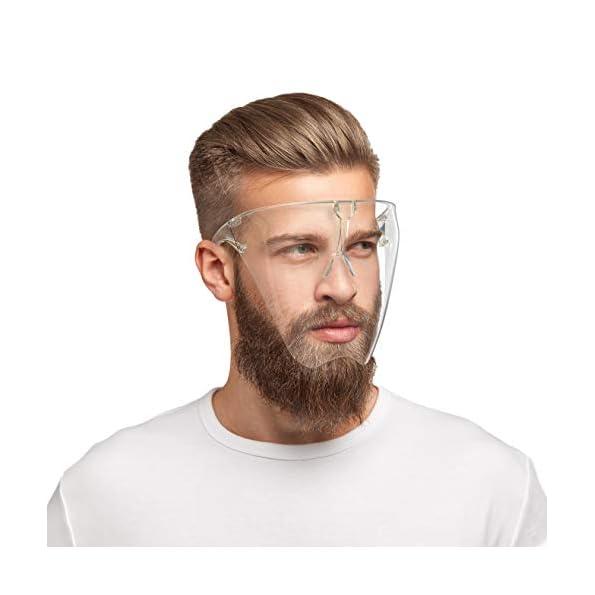 HARD-1x-Schutzbrille-mit-Mund-Nasen-Schutz-aus-Polycarbonat-in-gr-L-Schutzschild-Maske-mit-Anti-Beschlag-kratzfestes-Face-Shield-Brille-in-Transparent