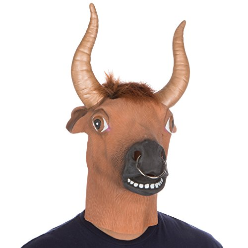 Halloween Party Costume Latex Bull Ring Mask by Capital (Latex Bull Mask)