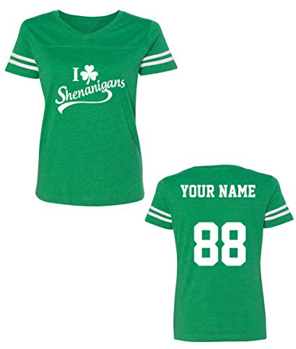 Custom Jerseys St Patrick's Day T Shirts - Saint Pattys Jersey Tee & Irish ()