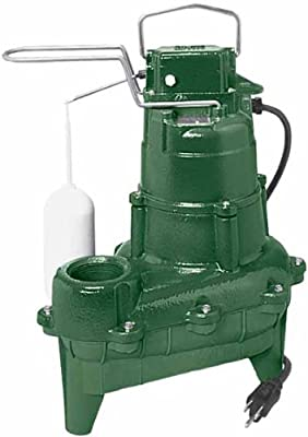 Zoeller M264 Waste-Mate Sewage Pump, 4/10th Horsepower, 115V