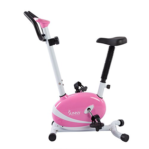 Sunny Health and Fitness Magnetic Upright Bike (Pink) For Sale