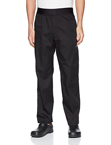 Chef Works Men's Lightweight Slim Chef Pants, Black, Small by Chef Works (Image #1)