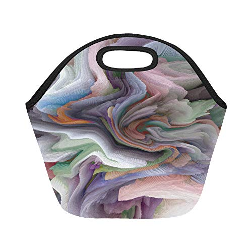 Insulated Neoprene Lunch Bag Abstract Mottled Grunge Background Texture With Sp Large Size Reusable Thermal Thick Lunch Tote Bags For Lunch Boxes For Outdoors,work, Office, School