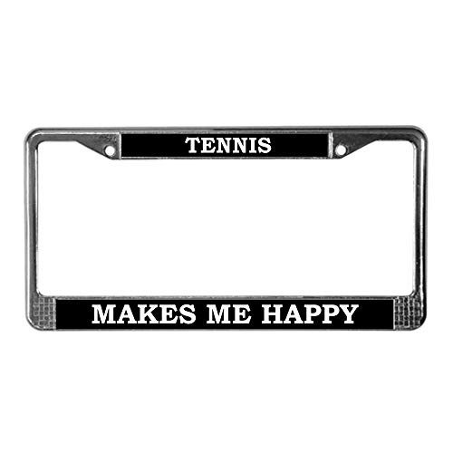 CafePress Tennis Chrome License Plate Frame, License Tag Holder