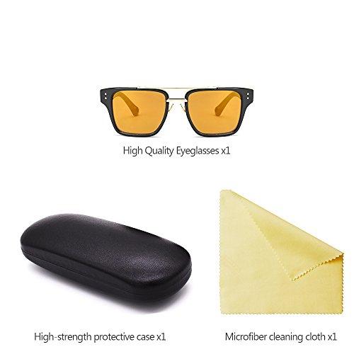 Gafas Estilo y Retro 02 Gafas Hombre estilo Extragrandes sol UV400 para Último Mujers de KINDOYO Unisex de UgZqwOg