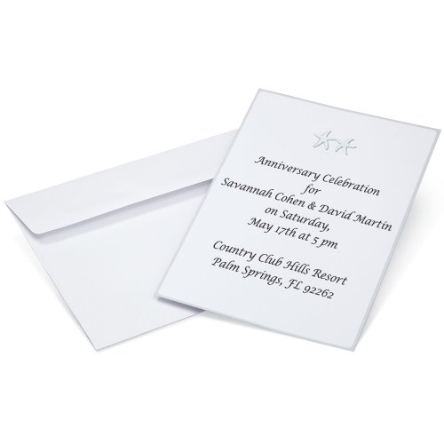 Wilton 1008-8962 Dancing Starfish Invitations for Wedding, 12-Pack