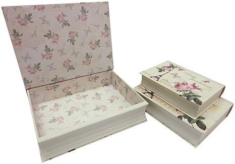 JVL de Flores de Paris Belle de cartón Decorativo con Forma de ...