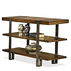 Console table with three wood platforms
