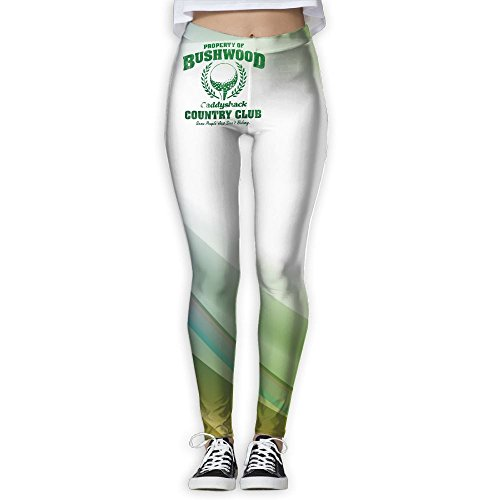 Loddgew Bushwood Country Club Women's Full-Length Yoga Workout Leggings Thin - Usps Of Shipping Out Country