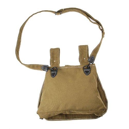Generic Men's Ww2 German Army Bread Bag with Shoulder Strap 13.5x11.5 Khaki