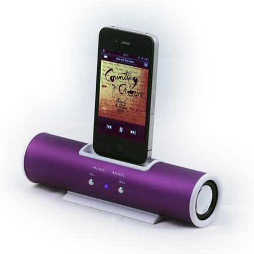 Tube Dock Speaker Docking Station For Apple iPhone's/iPod Touch - 30 Pin...
