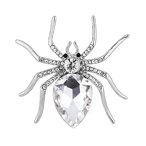 Top Cheer Vintage Style Rhinestone Crystal Spider Brooch Pin Animal Broach Pins Jewelry (4)
