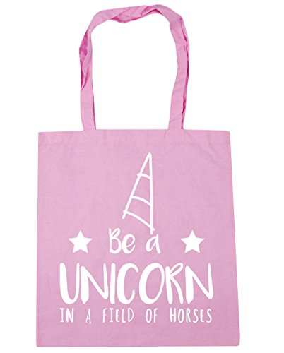 HippoWarehouse Be a unicorn in a field of horses Tote Shopping Gym Beach Bag 42cm x38cm, 10 litres Classic Pink