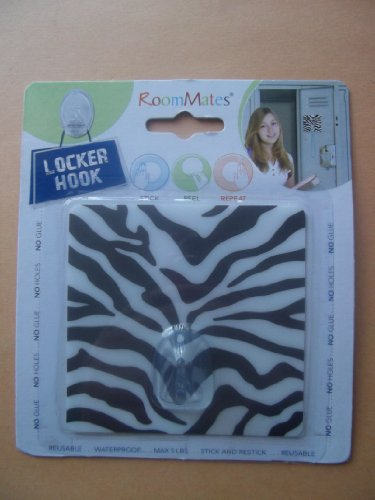 RoomMates  TG0028HK Zebra Magic Locker Hook ()