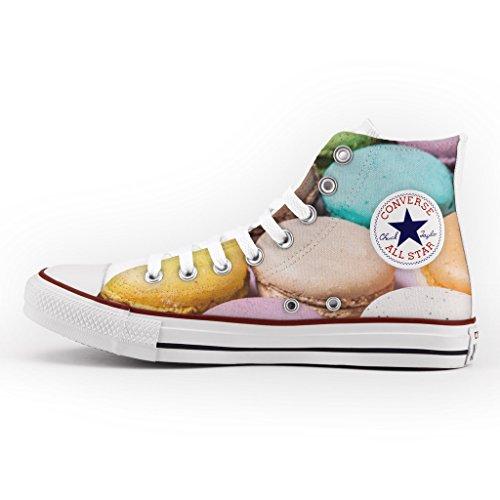 Converse Personalizzate All Star Alta - scarpe artigianali - Macarons Multicolor