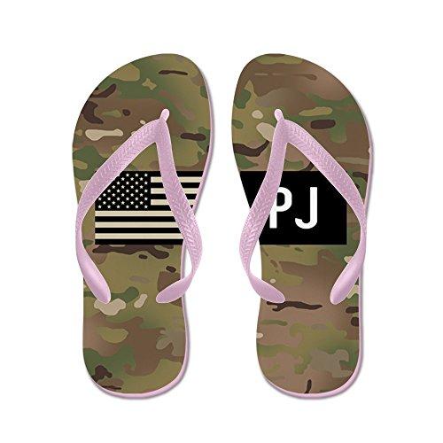 CafePress U.S. Air Force: PJ (Camo) - Flip Flops, Funny Thong Sandals, Beach Sandals Pink