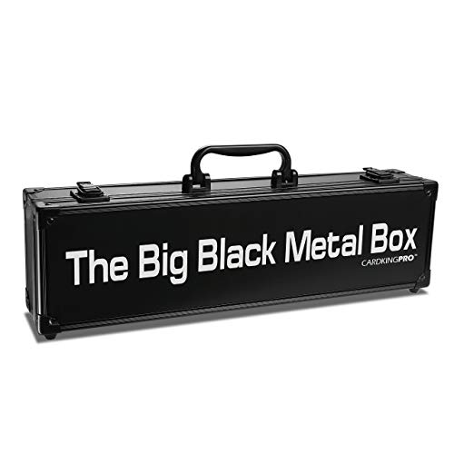 (The Big Black Metal Box (Long Edition) | Case is Compatible with Magic The Gathering, MTG, All Standard Card Games (Game Not Included) | Includes 8 Dividers | Fits up to 1400 Loose Unsleeved Cards)