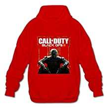 HUBA Men's Hooded Sweatshirt Call Of Duty Black Ops III 2 Red Size S