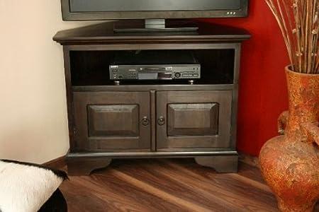 Armario esquinero, TV, HiFi, 90 x 70 x 50, madera, maciza, armario de televisión, esquina, estantería, Rack, aparador: Amazon.es: Hogar