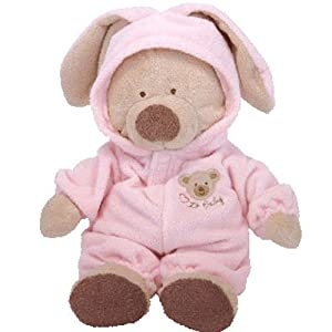 Baby Ty - PJ Bear Medium Pink - 41rbnJ4eKXL - Baby Ty – PJ Bear Medium Pink
