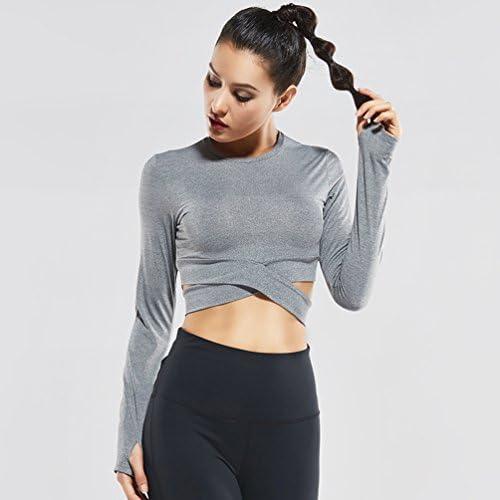 Fanceey Femmes Fitness et Musculation Exercice Yoga Chemise Sports Running Beaut/é Crop Top Sportswear