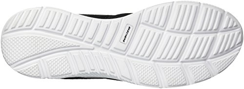 Skechers Sport Mens Satisfaction Flash Point Oxford Black/White