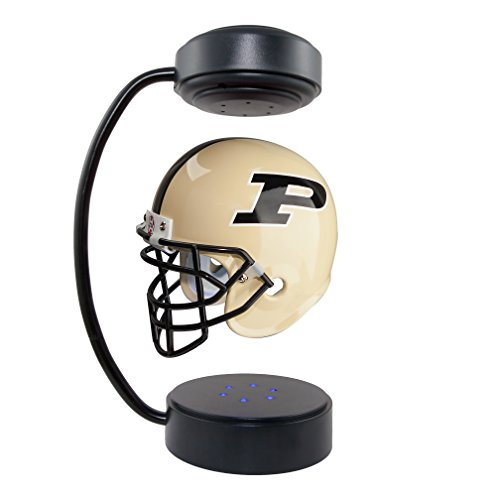 NCAA Hover Helmet - Collectible Levitating Football Helmet with Electromagnetic Stand (Purdue Boilermakers Collectibles)