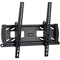 Mount-It! Lockable Anti-Theft TV Wall Mount Low-Profile Tilting Design With Adjustable Height Fits 32 35 36 37 39 40 42 43 46 47 48 49 50 52 and 55 Inch TVs VESA Compatible Bracket Stand Up to 400x400