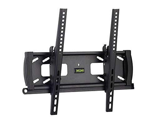 Mount-It! Lockable Anti-Theft TV Wall Mount Low-Profile Tilting Design With Adjustable Height Fits 32 35 36 37 39 40 42 43 46 47 48 49 50 52 and 55 Inch TVs VESA Compatible Bracket Stand Up to 400x400 by Mount-It!