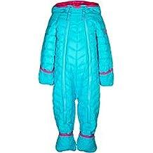 Snozu Infant and Toddler Fleece Lined Ultralight Quilting One Piece Snowsuit,Frozen Blue,3/6 Months