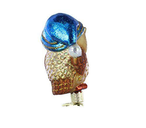Old World Christmas Ornaments Owl Tree Top Glass Blown Ornaments for Christmas Tree 50024