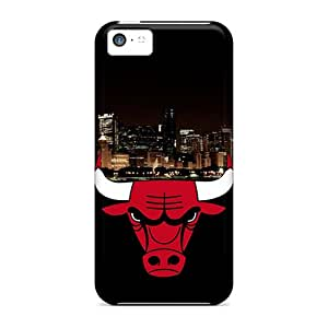 Shock Absorbent Hard Cell-phone Cases For Iphone 5c (lbN15125xeVO) Customized Vivid Chicago Bulls Series