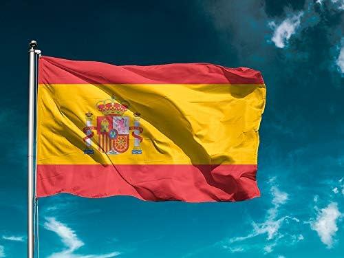 Wayshop| Bandera España | Banderas Países | Medidas 150cm x 85cm | Fácil colocación | Decoración Exteriores (1 Unidad): Amazon.es: Hogar
