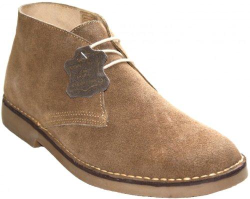 Stiefeletten Schnürschuhe aus echtem Rindsleder Wildleder Schuhe beige