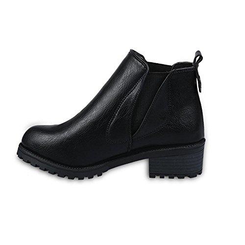 Nouveaux Bas Bottes Hiver Chaussures Bottes Talons Bottines Noir Womens Covermason Automne Mode Hiver OdfqXww