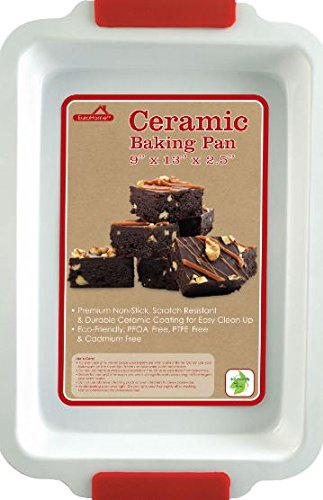 K&A Company Ceramic Coated Baking Pan Case Pack 12 New Non Stick Red White