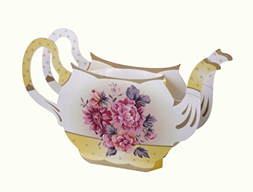 Talking Tables Tea Party Floral Vintage Teapot Vase Decoration | Truly Scrumptious | Also Great For Birthday Party, Baby Shower, Wedding And Anniversary | Paper