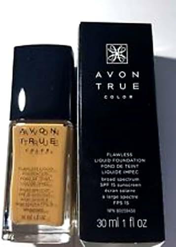 Avon True Color Flawless Liquid Foundation SPF 15 Sunscreen Spiced Almond