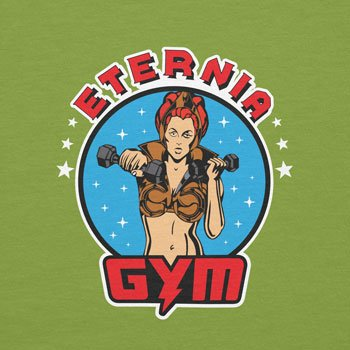Texlab Lady Fitness Gym - Damen T-Shirt, Größe S, Kiwi